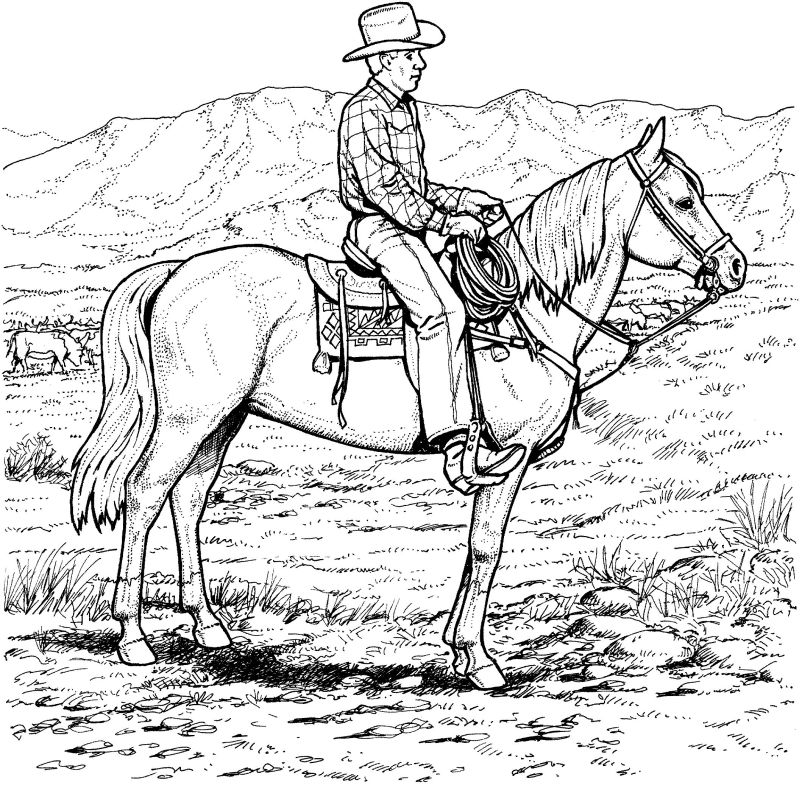 coloring book western pages - photo#12
