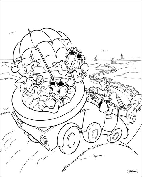 Donald Duck Kleurplaat Verjaardag Donald Duck Malvorlagen Malvorlagen1001 De