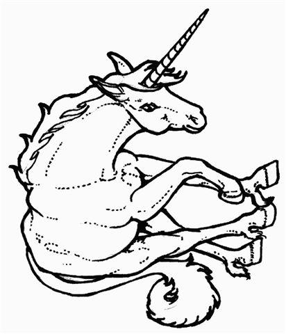 Coloring Page Unicorn Pegasus