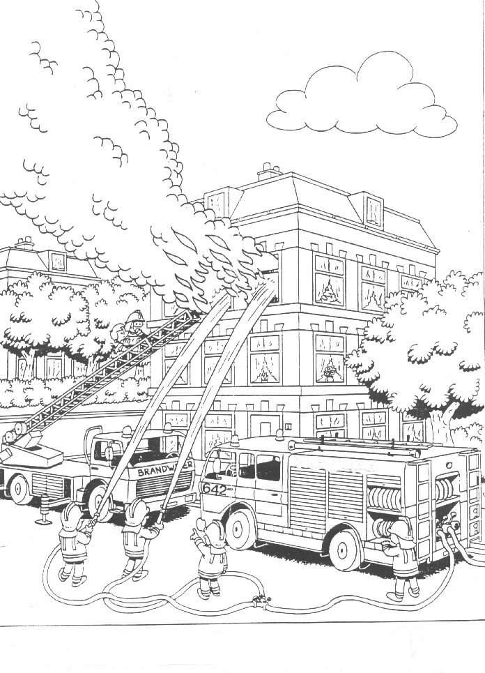 Feuerwehr malvorlagen - Dessin de pompiers a imprimer ...