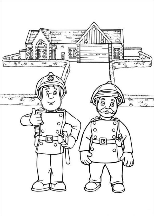 Feuerwehrmann sam Malvorlagen - Malvorlagen1001.de