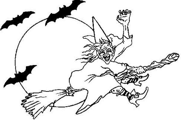 Malvorlage Gratis Ausmalbilder Hexen