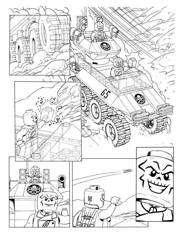 Lego Avengers Malvorlagen
