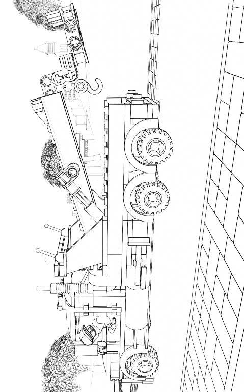 Ausmalbilder Lego City Bergpolizei - Malvorlagen