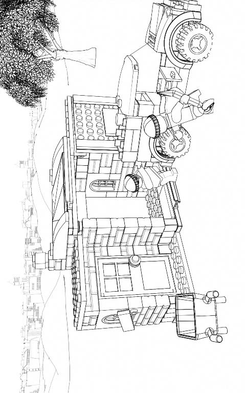 ausmalbilder lego city feuerwehr  malvorlagen