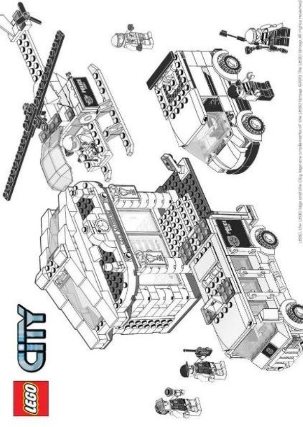 Lego City Polizei Zum Ausmalen - Malvorlagen