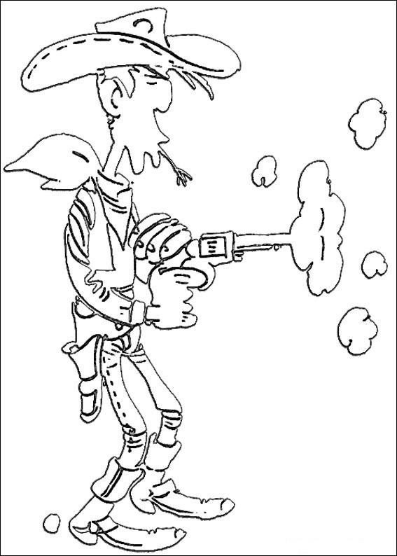 Kleurplaat Aan Tafel Lucky Luke Malvorlagen Malvorlagen1001 De